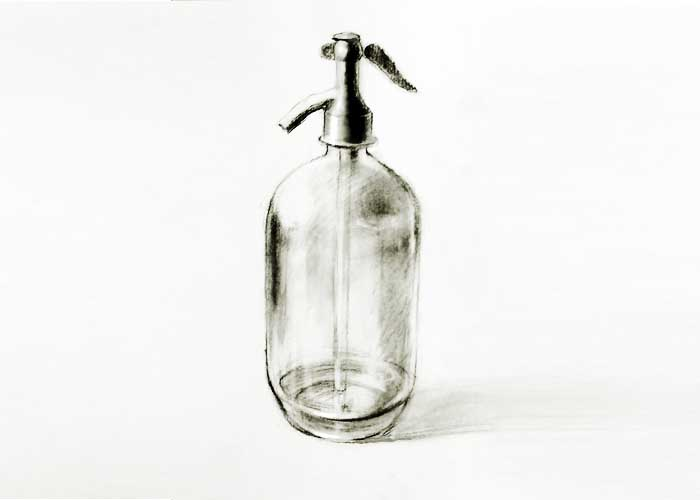 Glass bottle drawing