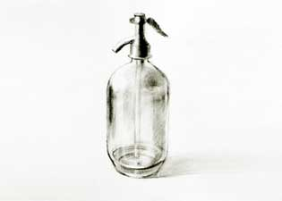 Drawing of glass bottle