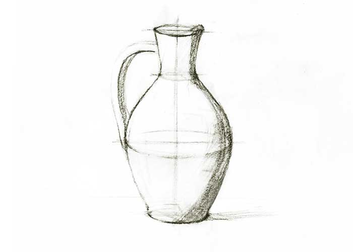 Line Drawing Jug : Sketch of jug