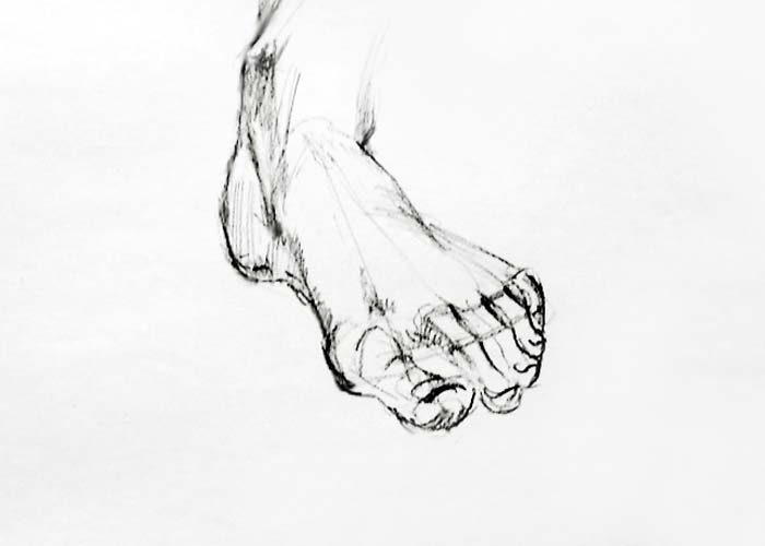 Pencil foot sketch