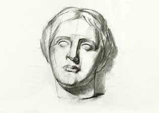 drawing of Venus de Milo