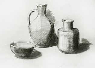 Large drawing of still life